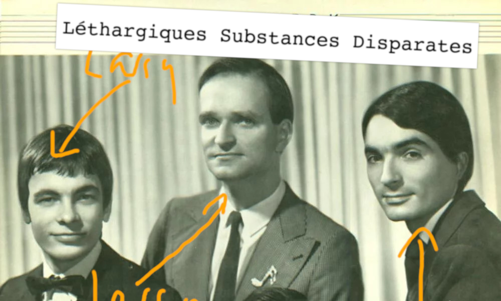 Léthargiques substances disparates